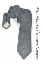 Mens Necktie Dark Blue Denim Japan Chambray tie - €59,52 EUR