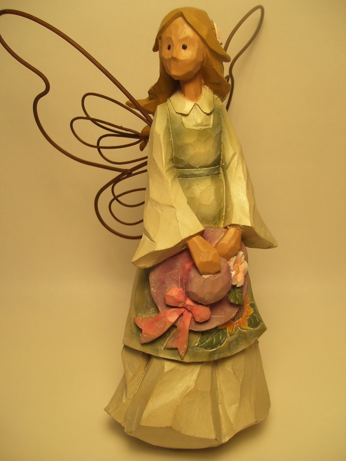 Ganz 8in. Wood carved Angel w/ wire wings and 50 similar items