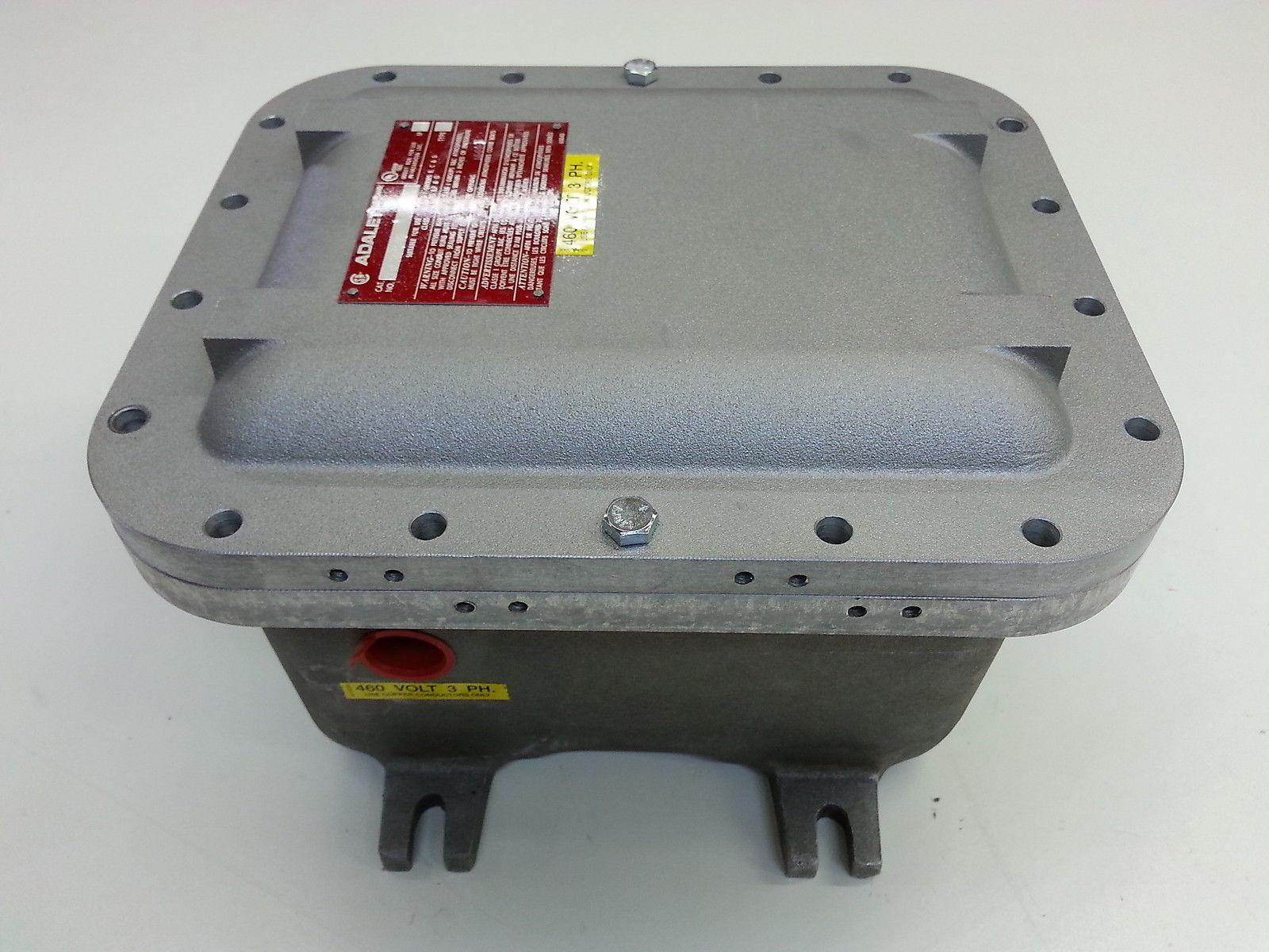 Adalet xjf 081006 explosion proof motor starter 460v 3 for 3 phase motor starter