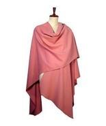 pink Cape, wrap made of Babyalpaca wool fabric  - $235.00