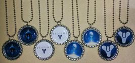 "Set of 8- ""DESTINY"" Flat Bottlecap Necklaces! For birthday partys favors! - $8.80"
