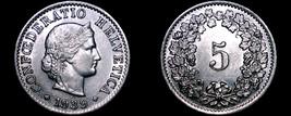 1939 Swiss 5 Rappen World Coin - Switzerland - $12.99
