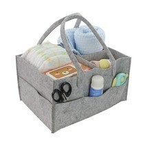 Felt Storage Basket Organizer Bag Foldable Portable Toys Diaper Cosmetic... - $24.97 CAD