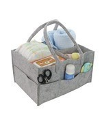 Felt Storage Basket Organizer Bag Foldable Portable Toys Diaper Cosmetic... - $18.60