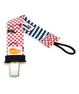 Retro Mustache Personalized Pacifier Clip - Unisex - $6.95