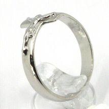 Ring aus Silber 925, Überqueren mit Christus, Karree Gerade image 3