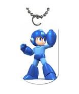 Mega Man Dog Tag necklace Keychain - $10.00
