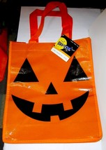 """HALLOWEEN Shopping Tote Bags Boo tique 10"""" By 12"""" Pumpkin Spooky colors 45O - $3.94"""