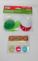 "Christmas Art Minds 2"" Felt Buttons 40pc & Trim and Buttons Three Color... - $5.91"