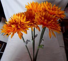 "Fall Christmas Decor Picks Stems Flowers Spider Daisy Ashland 5ea 29"" x ... - $7.89"