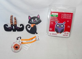 Halloween Mix Lot Celebrate It Ornaments Eye Cat-Witches Feet Owl Melty ... - $7.89