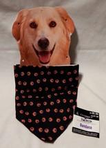 Halloween Dog Pet Bandana Celebrate It Little Pumpkins on it Black & Orange 38Q - $4.93