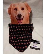 Halloween Dog Pet Bandana Celebrate It Little Pumpkins on it Black & Ora... - $4.93