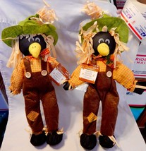 "Halloween Harvest Blackbirds Scarecrows Celebrate It 15"" x 9"" Free Stand... - $9.89"