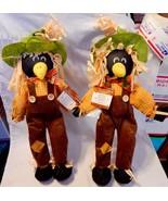 "Halloween Harvest Blackbirds Scarecrows Celebrate It 15"" x 9"" Free Stand... - £7.19 GBP"