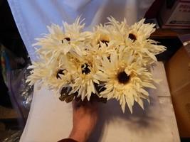 "Ashland Fall Bushes Decor Picks Stems Fillers White Flowers 2ea 12"" x 7""... - $5.89"