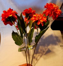 "Fall Christmas Decor Picks Stems Flowers Sunset Fields 3ea 29"" Tall x 6""... - $7.87"