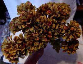 "Ashland Fall Bushes Decor Picks Stems Fillers Flowers 3ea 12"" x 7"" Mater... - $4.93"