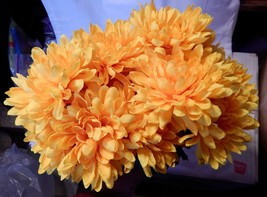 "Ashland Fall Bushes Decor Picks Stems Fillers Yellow Flowers 2ea 12"" x 7... - $5.89"