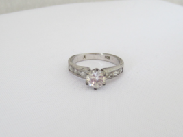 Vintage Sterling Silver CZ High Setting Ring Size 8.25 - $20.00