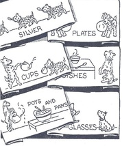 Puppy Dogs Kitchen Dish Towels embroidery pattern AB5083   - $5.00