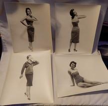 B&W Vintage 8 x 10 Prints 4ea 1950's Glamour Girls Models Pinups Origina... - $9.89