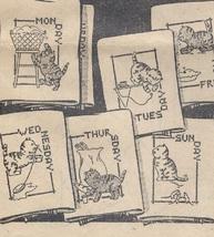Kitten DOW  days of week Towels embroidery & applique pattern LW1644  - $5.00