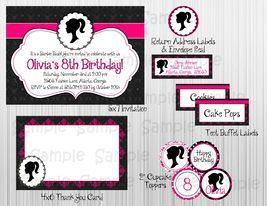 Vintage Barbie Complete Party Package: Printable, Birthday,Bridal/Baby S... - $20.00