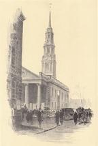 Original 1922 Print of St. Paul's Chapel New York City - $11.00