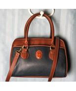Carriage House All Weather Navy  Brown Trim  Bag Satchel Shoulder Bag Cr... - $39.27