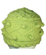 Spring Green Winter Hand Knit Hat - $28.50