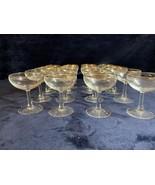 Vintage set of 20 Margarita Glasses with Gold Trimp - $89.09