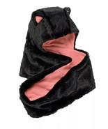 Girls Faux-Fur Hooded Infinity Scarf, Cat Ears Fleece Lined, Black & Pin... - $12.20