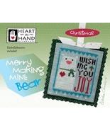 Merry Making Mini: Bear christmas cross stitch chart Heart in Hand - $6.30