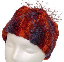 Red 'n Orange 'n Purple Child's  Hand Knit Hat - $21.00