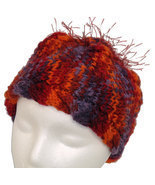 Red 'n Orange 'n Purple Child's  Hand Knit Hat - £16.16 GBP