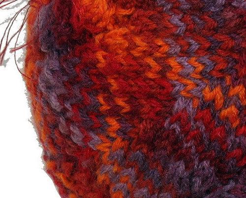 Red 'n Orange 'n Purple Child's  Hand Knit Hat