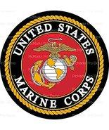 "8"" Round Cake - United States Marine Corps Emblem - Edible Cake or Cupca... - $7.95"