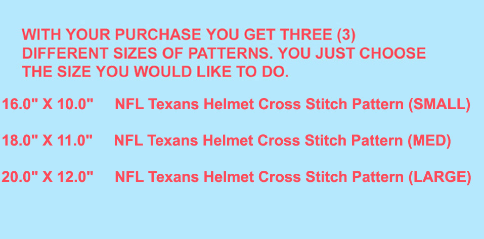 NFL Texans Helmet Cross Stitch Pattern***L@@K***