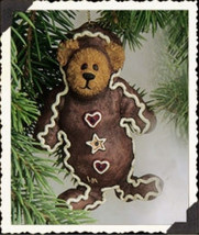 "Boyds Bearstone ""Hansel"" Gingerbread Bear Ornam... - $19.99"