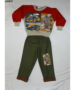 Little Heros Sz 2 Fleece Sweatshirt and Tan Pants Made in USA - $9.99