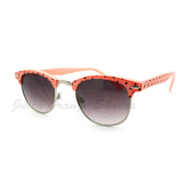 Round Half Top Polka Dot Sunglasses Women's Vintage Fashion - $9.95