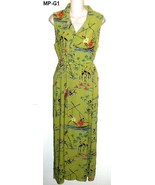 Melrose Studio Size Medium Ankle Length Lime Green Summer Dress - $20.99