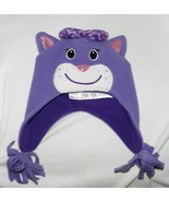 Childrens Place Purple Kitty Face Hat Sz 6-12 mo.  NWT - $9.99