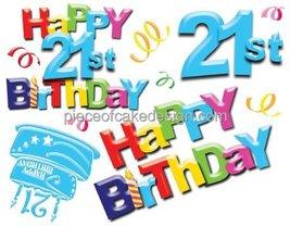 "6"" Round ~ Happy 21st Birthday Background Birthday ~ Edible Image Cake/C... - $7.95"