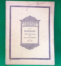 1921 Sheet Music Schirmer's Library, Volume 90, Schumann - $5.95
