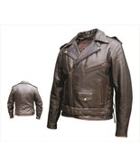 Allstate Leather Men′s Retro Brown Motorcycle Jacket AL2023 - $189.00+