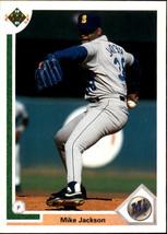 1991 Upper Deck Mike Jackson #496 Seattle Mariners (MT) Baseball Card - $0.10