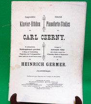 1916 Dual-Language Song Book, Selected Pianoforte Studies By Carl Czerny - $2.95