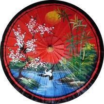 "35"" Diameter Asian Spring in Red Fashion Umbrellas - $28.95"